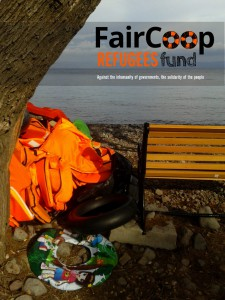 FairCoop's Refugees Fund poster